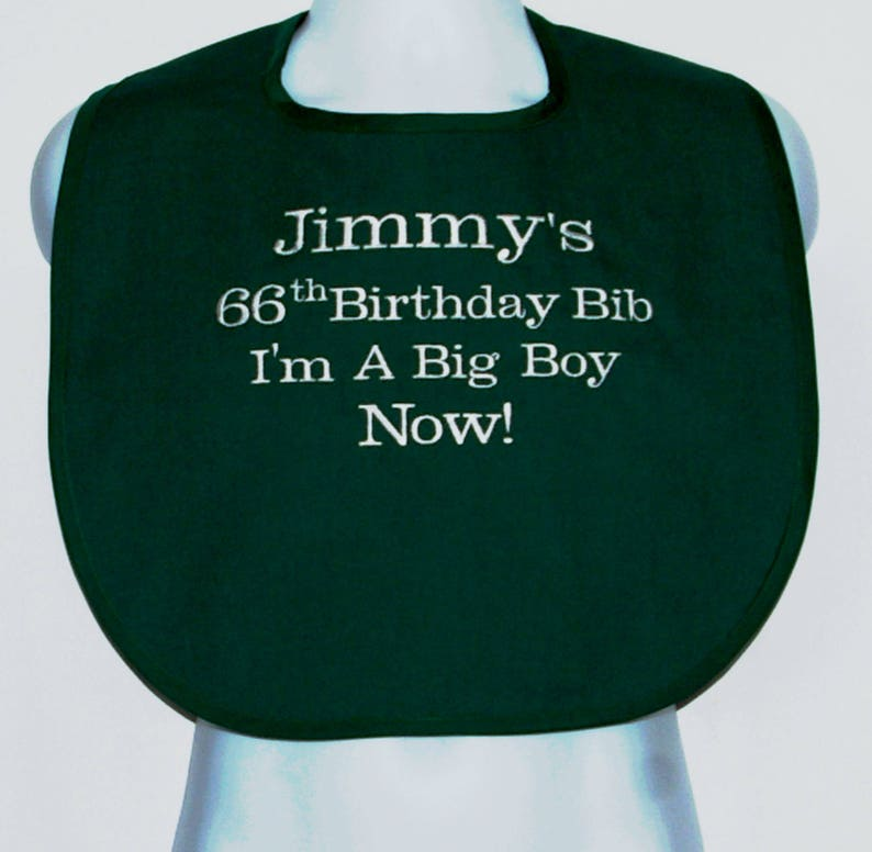 abc9dea1 Adult Bib I Am A Big Boy Bib Gag Gift Personalized With | Etsy