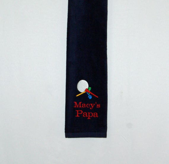 Grandpa Golf Towel Custom Golfing Gift Personalize With