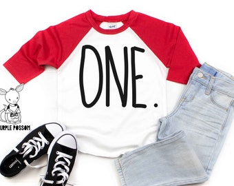 Kids Birthday Shirt Baseball Style Boys Long Sleeve Raglan Third Second One First Number