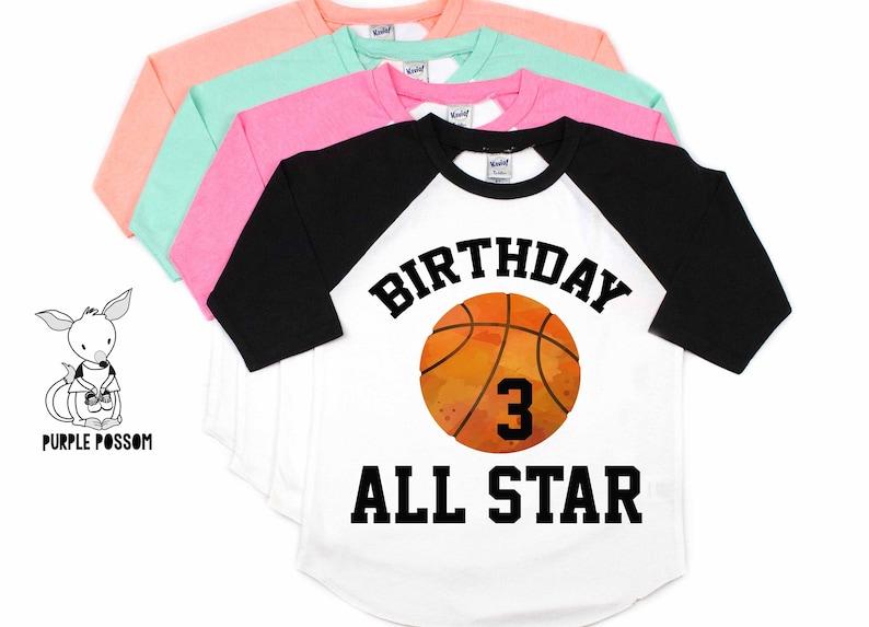 8cb52773 Basketball Birthday Shirt All Star Birthday 1 2 3 4 5 6 | Etsy