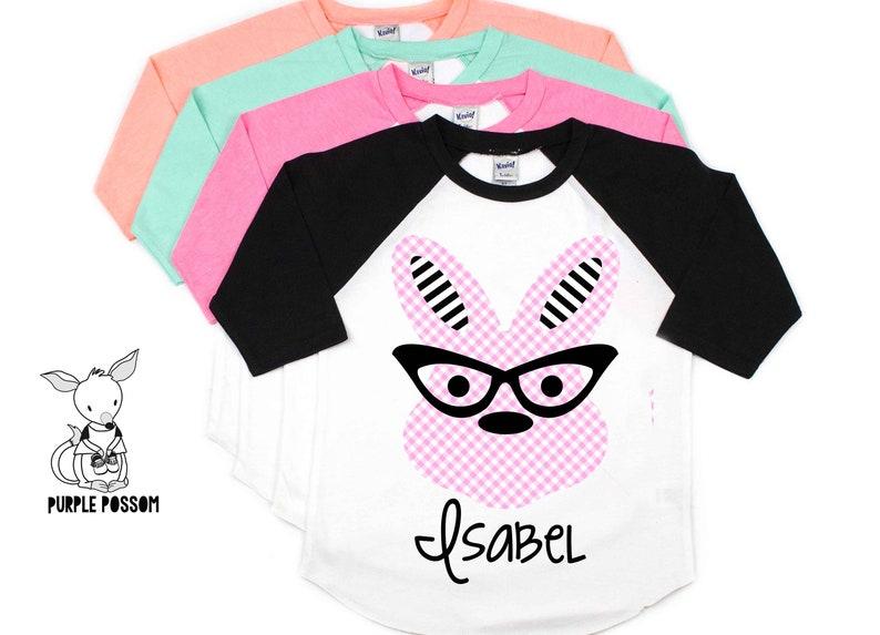 06b6834ae Kids Easter Shirt Gingham pattern Hip Hipster Easter shirt   Etsy