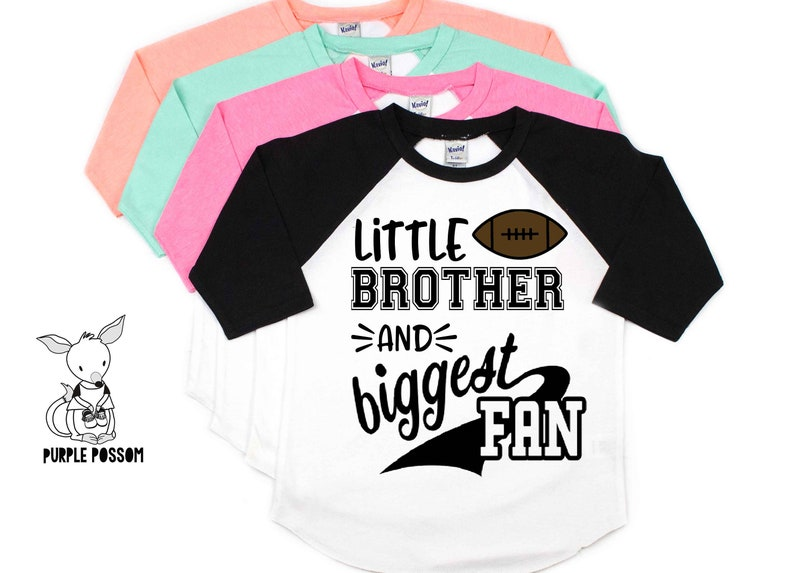 Little Brother Football Shirt Little Brother Biggest Fan Shirt  2bfcc969a