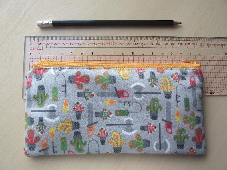 Monstruous gardening tools Faux suede pencil case