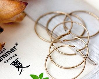 Earwires Vintage Raw Brass Hoop Earrings Findings Brass Wire Ear Hoops