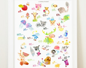 2 x French English Alphabet for Anne Sanders