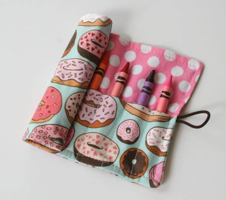 Crayon Caddy Roll Up  Glazed Ready to Ship image 0