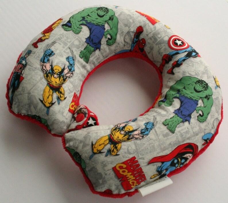 Toddler/Child Travel Neck Pillow  The Avengers Reversible w/ image 0