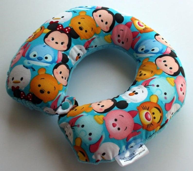 Toddler/Child Travel Neck Pillow  Tsum Tsum Reversible w/ image 0