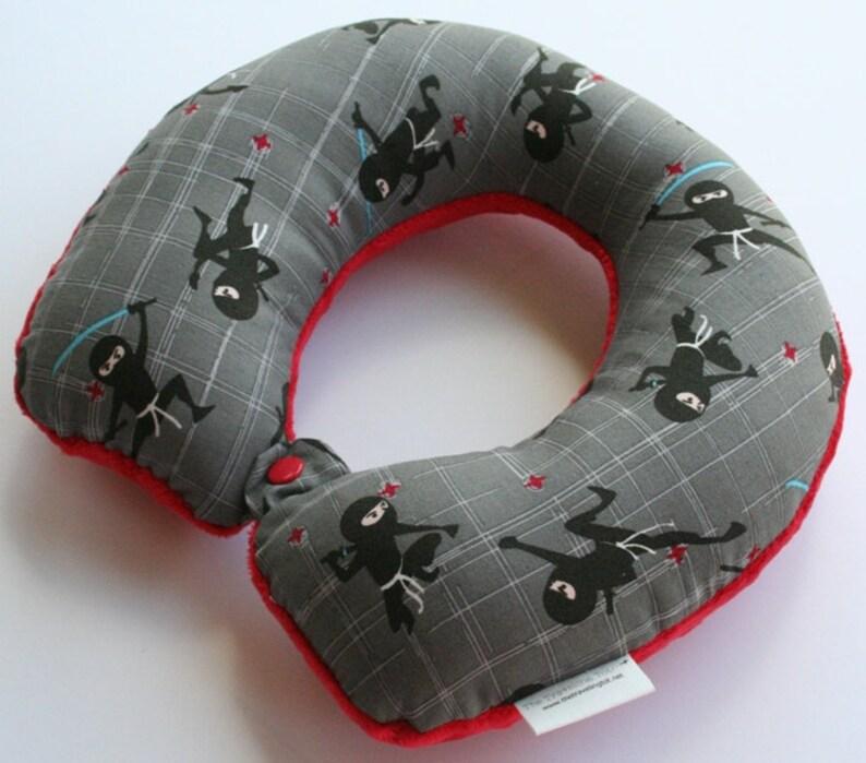 Toddler/Child Travel Neck Pillow  Ninja Kids Reversible w/ image 0