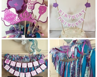 Frozen Birthday - Frozen Party Package, Frozen Banner - Disney Princess Party - Frozen Birthday Decorations