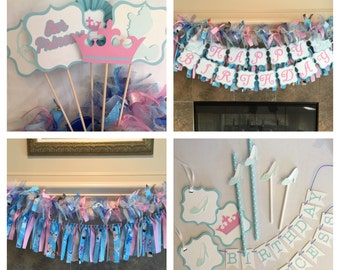 Cinderella Party Decorations - Cinderella Party Package - Party for Princess Party - Cinderella Birthday Party - Princess Party Decor