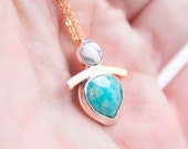 ARCH Necklace: Chrysophrase + Marble