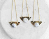 SET Marble + Brass Necklace