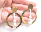 Brass + Pearl Orb Drop Posts