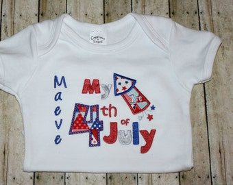 First Fourth of July Shirt, First Fourth of July Bodysuit, Baby Shirt, 1st 4th Shirt