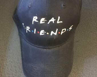 Personalized Hat- Real Friends Hat-Dad Hats-Baseball Cap-Monogram Cap-Friends Hat