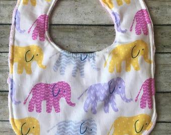 Baby Bibs-Personalized Baby Bib- Monogram Baby Bib- Elephant Baby Bib-Bibs-Baby Bibs-Girls Baby Bib-Bib