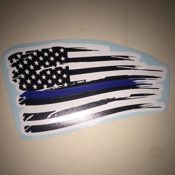 Thin Blue Line Decal Red White Flag Car Tumbler Lives Matter American Police Officer Gift Lene On Me