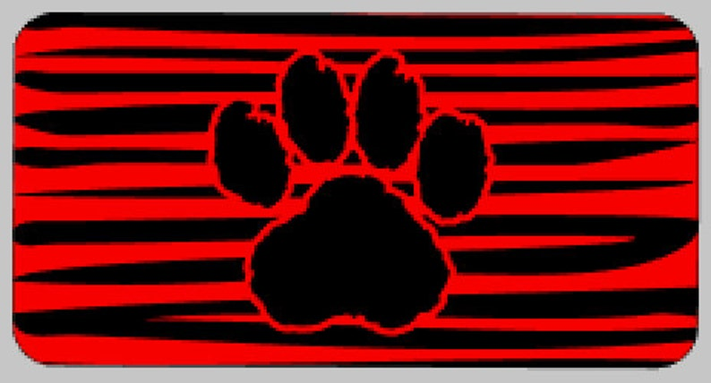Paw Print Aluminum License Plate, Vinyl Blank, Custom Vehicle Tag,  Personalized Truck License Plate, Vanity Plate, Printed License Plate
