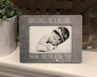 Only the best unles get promoted to godfather Godfather Gift Godfather Picture Frame Baptism Gift for Godfather Personalized Godfather 4x6