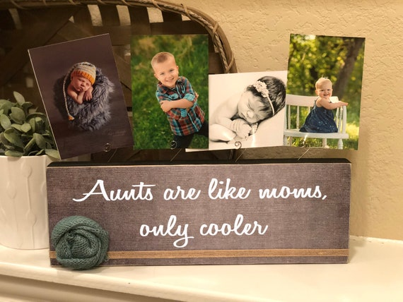 Christmas Gift For Aunt | Aunt Personalized Picture Frame Board | Aunts Are Like Moms Only Cooler