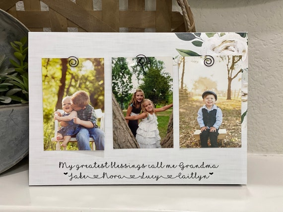 Gift for Grandparents | Personalized Grandparents Gift | Our Greatest Blessings Call Us Gift | 4x6 Picture Frame For Grandparents