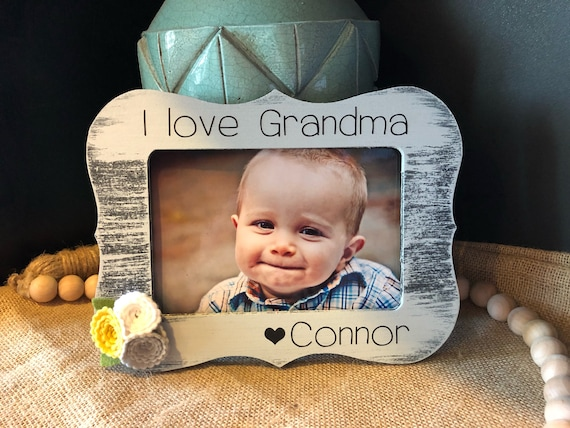 Grandma Gift | Personalized Gift For Grandma | I Love Grandma Picture Frame | Christmas Gift For Grandma | Mothers Day Gift for Grandma