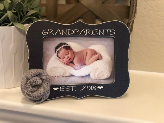 Grandparents Gift | Grandparents Picture Frame | Grandparents Est. | Pregnancy Reveal New Grandparents Picture Frame
