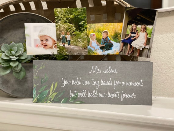 You Have Held Our Tiny Hands Nanny Gift Picture Frame For Teacher Nanny Nurse NICU Delivery Nurse Thank You Gift