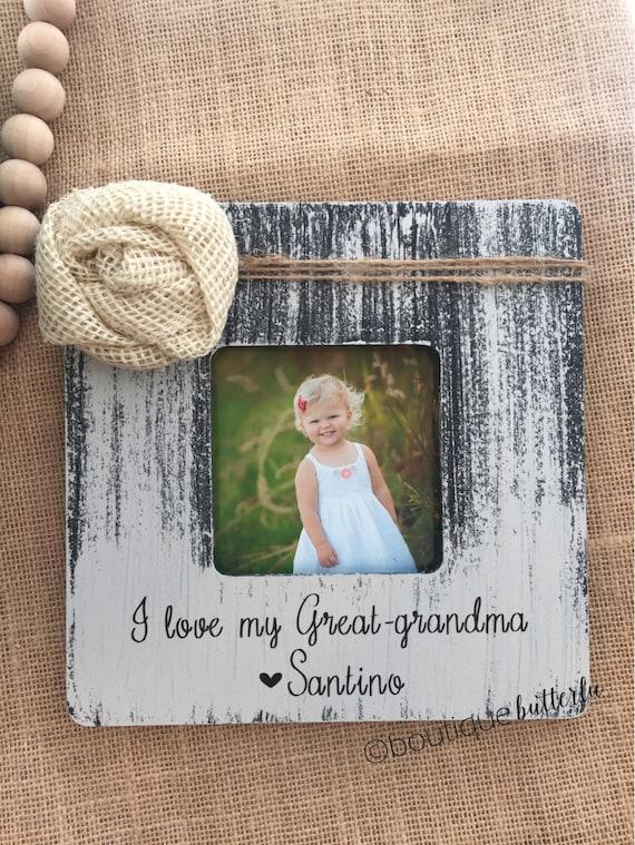 Gift for Great Grandma | Christmas Grandma Gift | Personalized Picture Frame Grandma | Personalized Gift Grandma Grammie Mimi Grammy Memaw