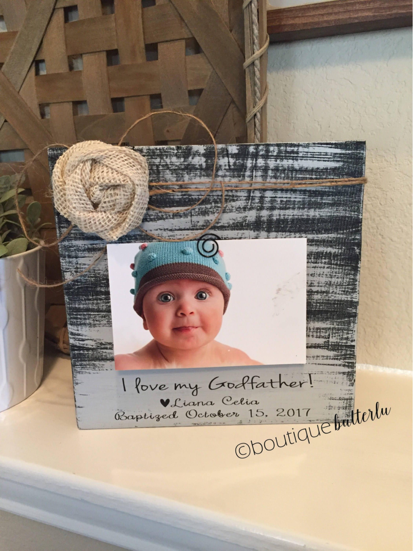 Gift for Godfather Godfather Frame Godparents Gift Baptism Gift ...