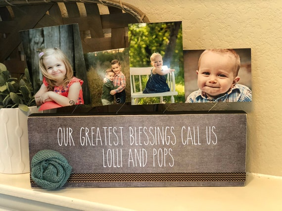 Personalized Christmas Gift For Grandparents | Nana, Papa, Lolli, Pops, Grandma, Grandpa | Personalized Gift From Grandkids