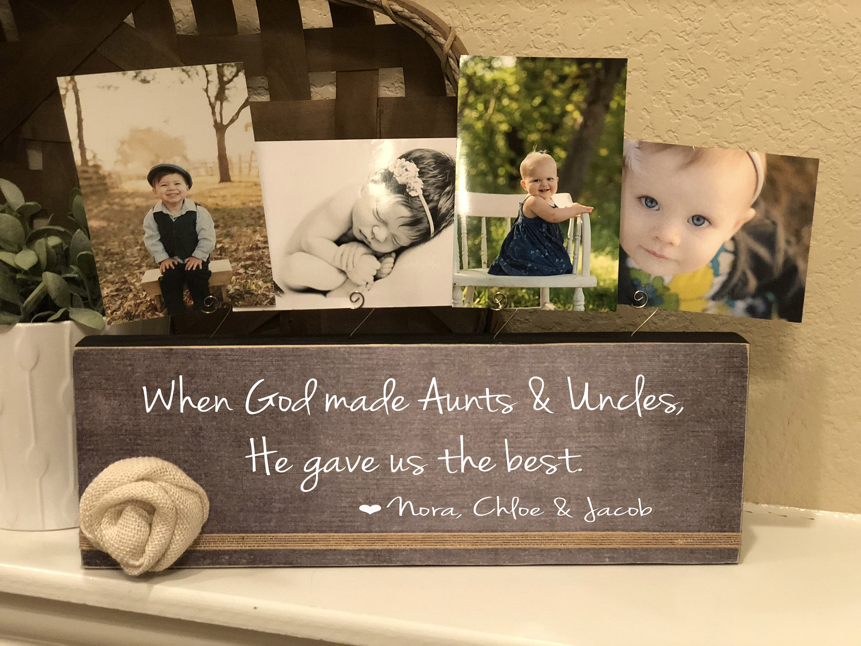 Aunt & Uncle Personalized Picture Frame Board   Aunt Uncle Gift From ...