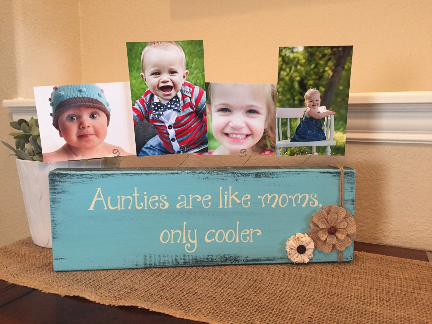 Aunt gift frame gift for aunt Personalized picture frame board aunt ...