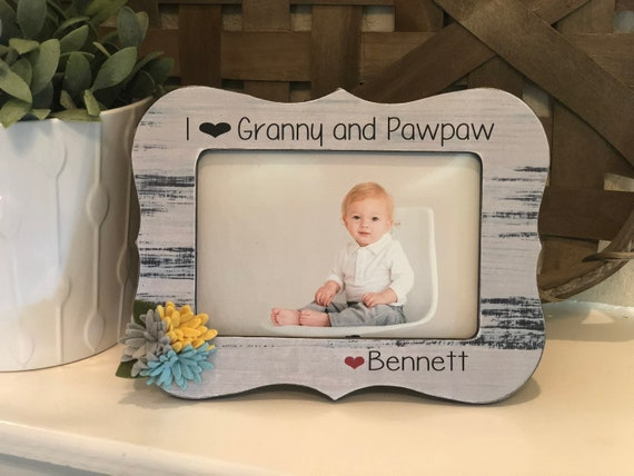 Personalized Christmas Gift For Grandparents | Personalized Picture Frame For Nana Papa Grandma Grandpa | Picture Frame Gift From Child