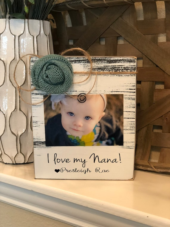 Nana Christmas Gift Personalized Nana Picture Frame Christmas Gift Nana 4x6 Picture Frame from Grandchild I Love My Nana Picture Frame