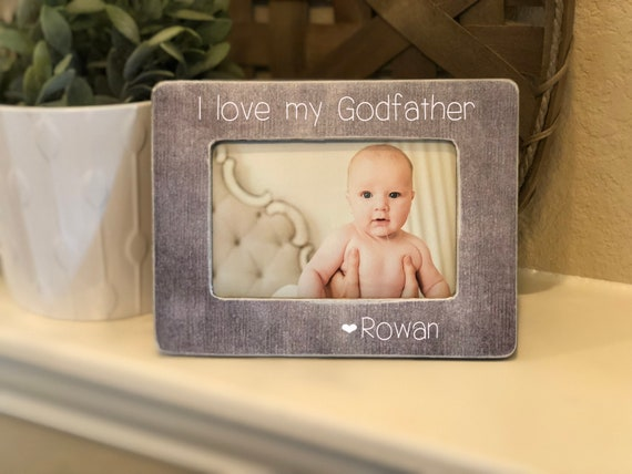 Christmas Gift for Godfather | Godfather Picture Frame | Personalized Frame | Baptism Gift for Godfathers Are A Blessing Gift for Godfather