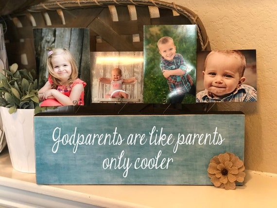 Godparents Gift | Godparent Personalized Picture Frame Board | Gift For Godparents | Godparents Are Like Parents, Only Cooler