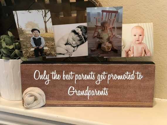 Only The Best Moms Parents Get Promoted Grandma Personalized Frame Gift Nana Papa Great Grandma Gigi Mimi Grandpa Grammie Granny Frame