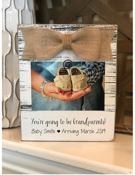Pregnancy Reveal to Parents - You're Going To Be Grandparents Ultrasound Picture Frame 4x6, Gift For Grandparents To Be