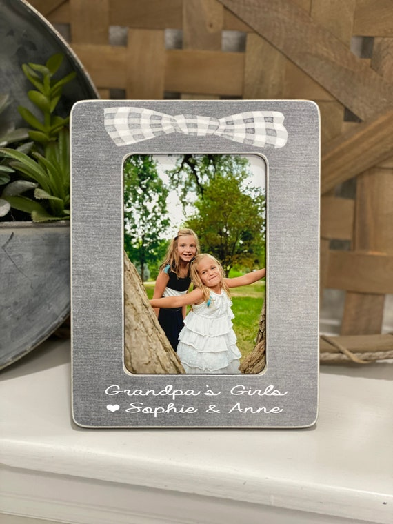 Father's Day Grandpa Gift Grandpa Frame | Grandpa's Girl I Love My Grandpa | Grandpa Personalized Gift | 4x6 Picture Frame Custom For Dad