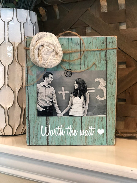 Worth The Wait Baby Announcement Pregnancy Reveal Custom Picture Frame Gift New Baby Frame Pregnant Baby Ultrasound Frame