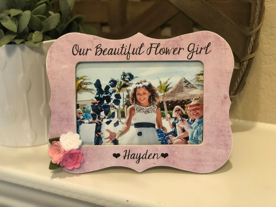 Personalized Flower Girl | Gift for Flower Girl | Flower Girl Picture Frame | Wedding Gift for Flower Girl Personalized Picture Frame Gift