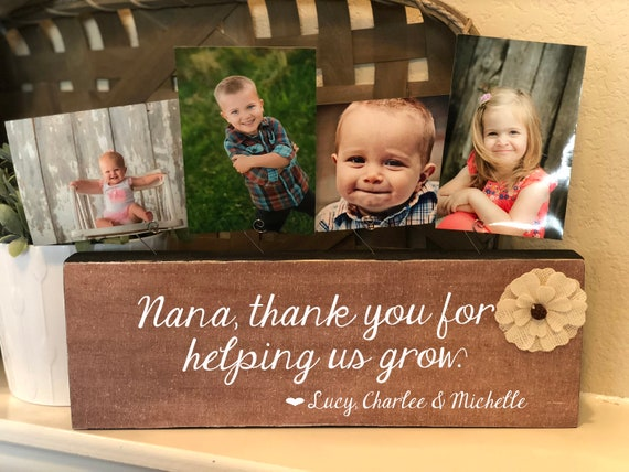Nana Christmas Gift | Personalized Picture Frame Board For Nana | Gift For Grandma | Nana Gift From Kids