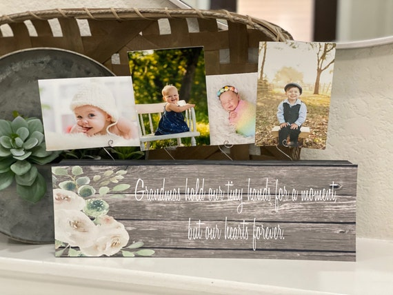 Grandmas Hold Our Tiny Hands For A Moment But Our Hearts Forever | Gift For Grandma From Grandkids | Christmas Gift For Grandma