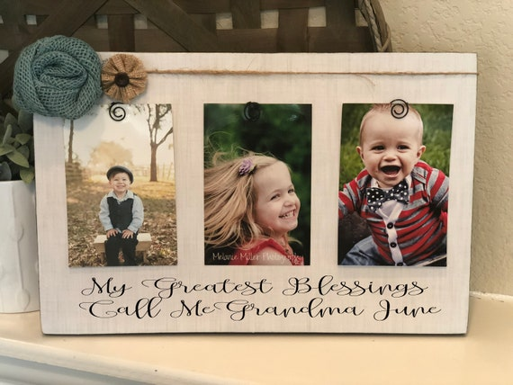 Grandma Personalized Frame Gift My Greatest Blessings Call Me Grammie Nana Mimi Customize With Kids Names And Birthdates!