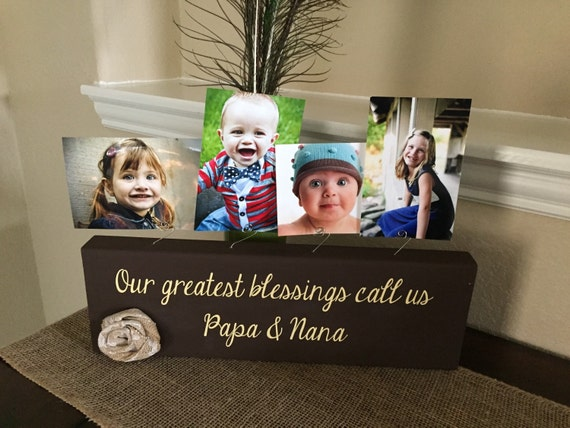Personalized Picture Frame Gift For Grandma Nana Papa Aunt
