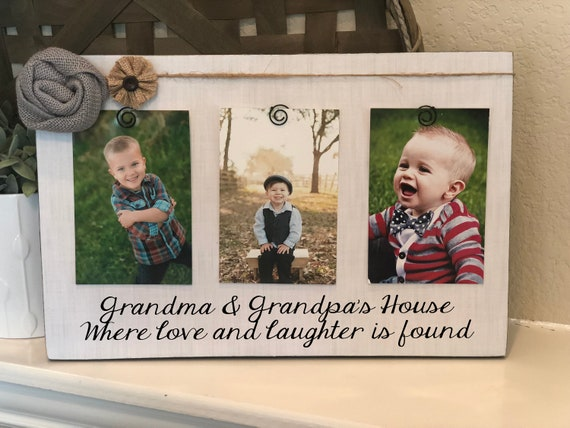 Personalized Christmas Gift For Grandparents | Picture Frame For Grandparents | Personalized Grandparent Gift