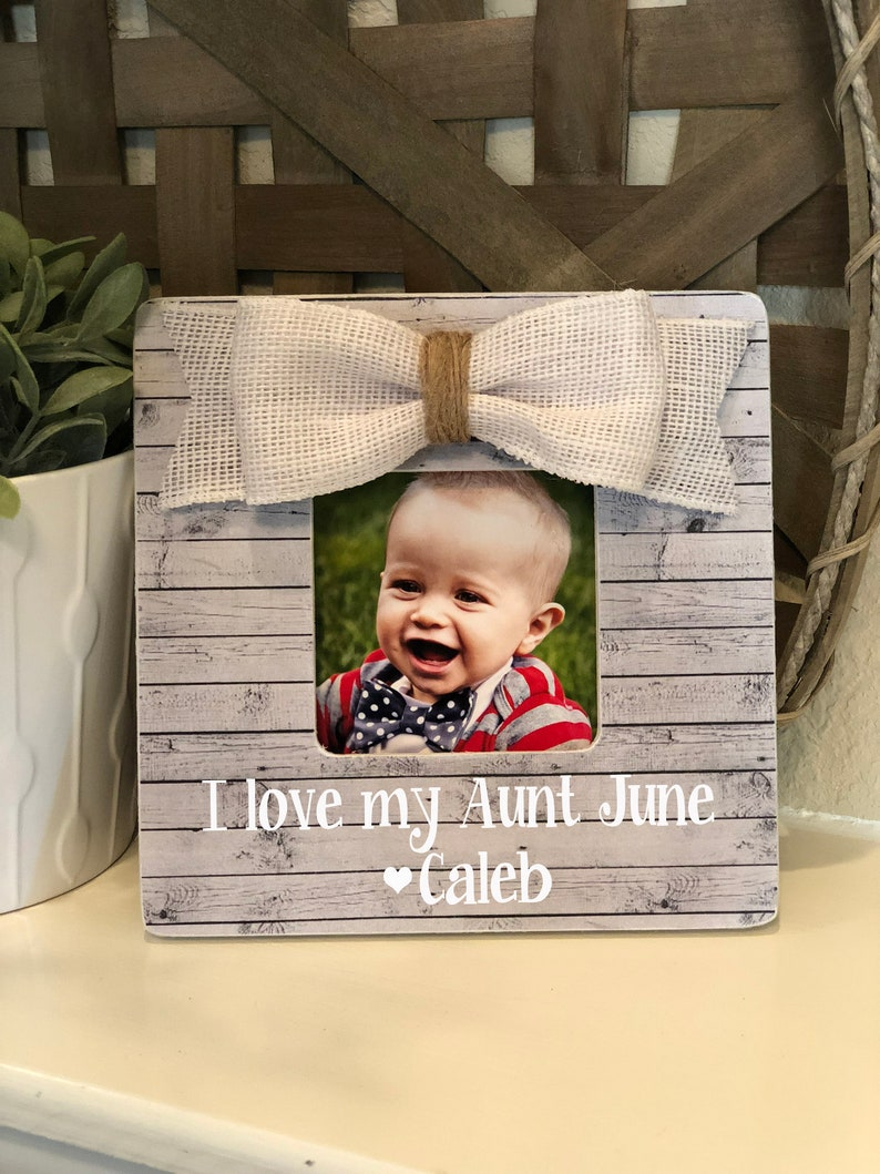 I Love My Aunt Gift Personalized Gift For Aunt Aunt Picture Frame Personalized Gift For Aunt