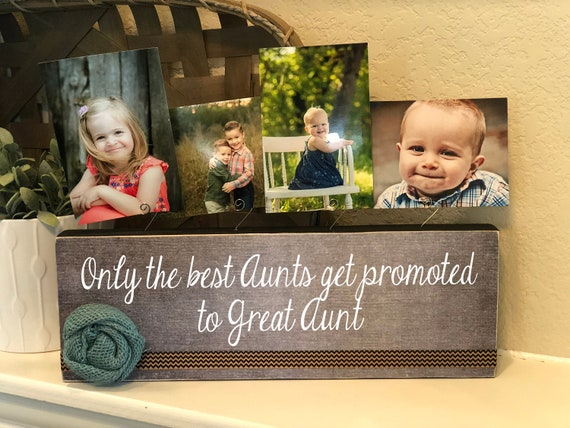 Great Aunt Frame Gift | Personalized Great Aunt Picture Frame Christmas Gift